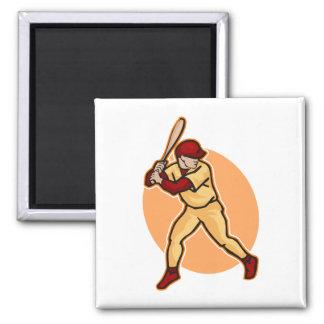 batter up 2 inch square magnet