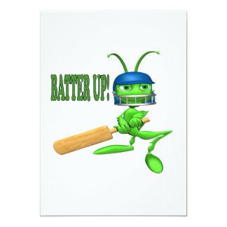 Batter Up 2 5x7 Paper Invitation Card