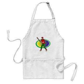 Batter up adult apron