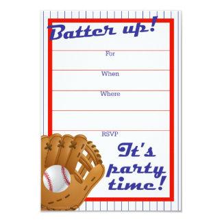 Batter Up Baseball Party Invite