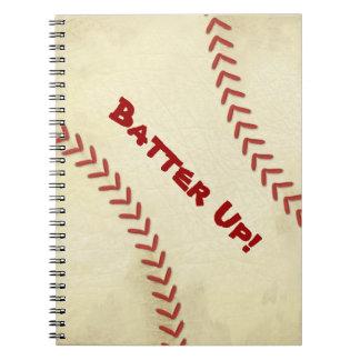 Batter Up Baseball Spiral Notebook