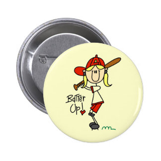 Batter Up Baseball Tshirts and Gifts Button