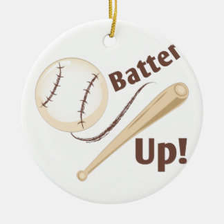 Batter Up Ceramic Ornament
