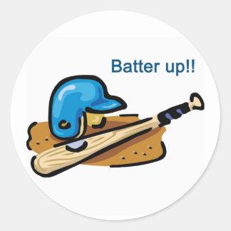 Batter Up! Classic Round Sticker