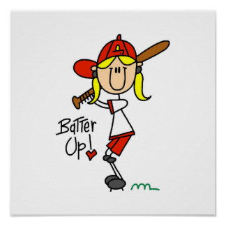 Batter Up Girls Baseball T-shirts and Gifts Poster