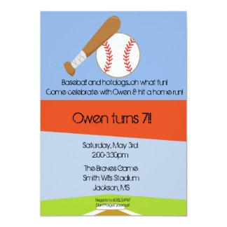 Batter up! 5x7 paper invitation card