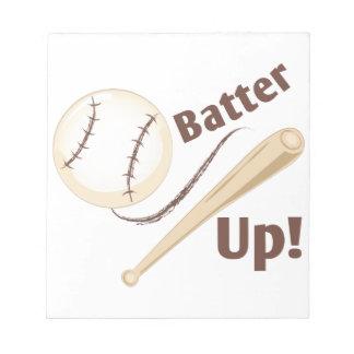 Batter Up Notepad