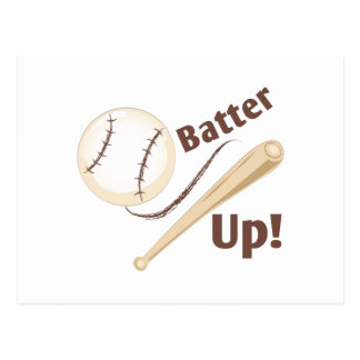 Batter Up Postcard