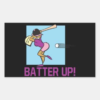 Batter Up Rectangular Sticker