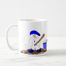 Batter Up Snowman Coffee Mug