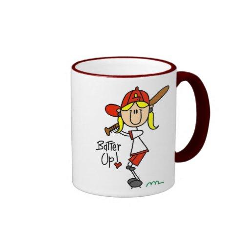 Batter Up! Softball Stick Figure Mug