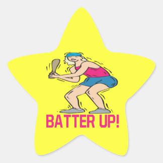 Batter Up Star Sticker