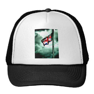 battered and torn mesh hat