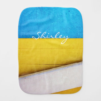 Battered Building-Minimal Abstract by STaylor Baby Burp Cloth