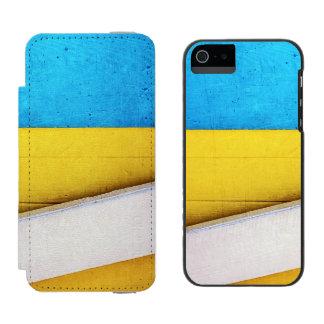 'Battered Building' Minimalistic Abstract Incipio Watson™ iPhone 5 Wallet Case