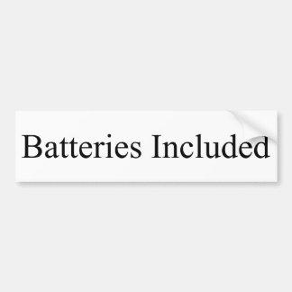 Batteries Included Bumper Sticker Car Bumper Sticker