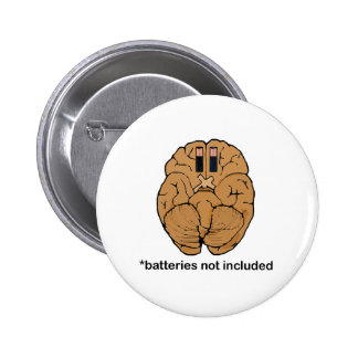Batteries Not Included BRAIN Pinback Button