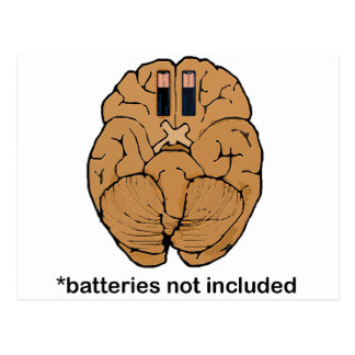 Batteries Not Included BRAIN Postcard