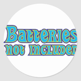 Batteries Not Included Classic Round Sticker