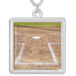 Batter's box personalized necklace