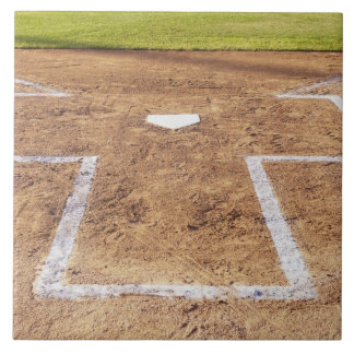 Batter's box tile