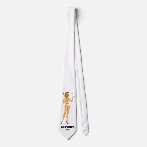 Batter's Up Pin Up Tie