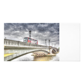 Battersea Bridge London Snow Card