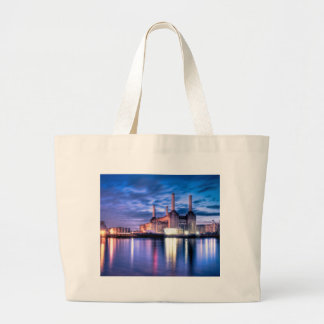 Battersea Power Station at night Canvas Bag
