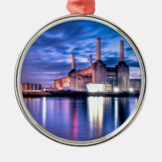 Battersea Power Station at night Metal Ornament