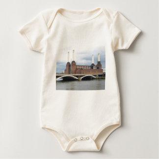 Battersea Power Station in London England UK Baby Bodysuit