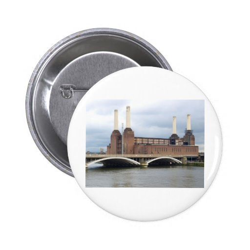 Battersea Power Station in London England UK 2 Inch Round Button