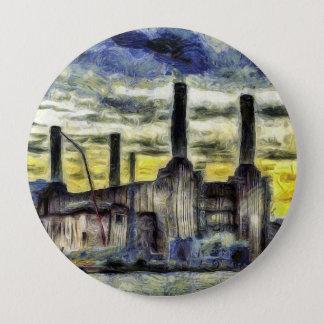Battersea Power Station London Art Button