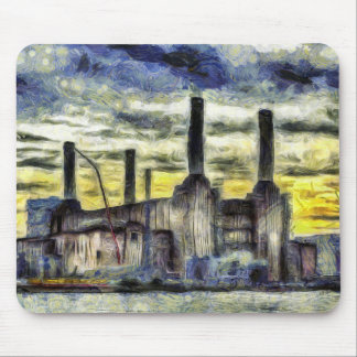 Battersea Power Station London Art Mouse Pad