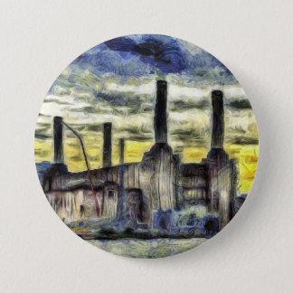 Battersea Power Station London Art Pinback Button