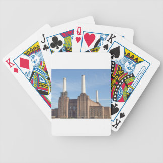Battersea Power Station London England Bicycle Playing Cards