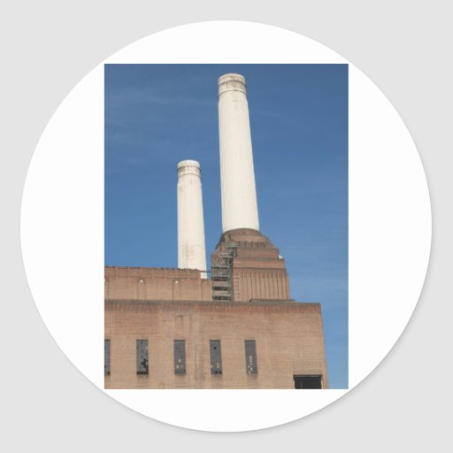 Battersea Power Station London England Classic Round Sticker