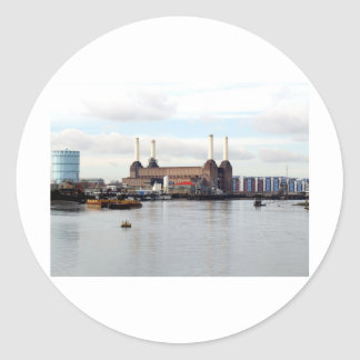 Battersea Power Station, London, UK Classic Round Sticker