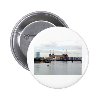 Battersea Power Station, London, UK Pinback Button