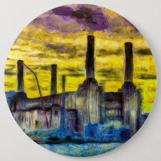 Battersea Power Station Sunset Art Button
