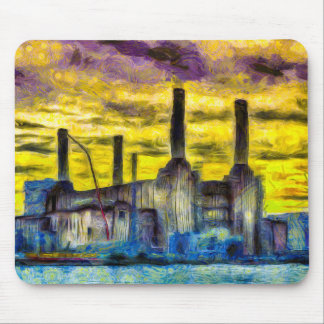 Battersea Power Station Sunset Art Mouse Pad