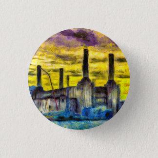 Battersea Power Station Sunset Art Pinback Button