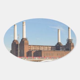 Battersea Powerstation Oval Sticker