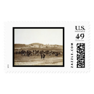 Battery Artillery Depot in Camp Barry, DC 1864 Postage