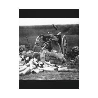 Battery C, 6th Field Artillery, fired_war image Canvas Print