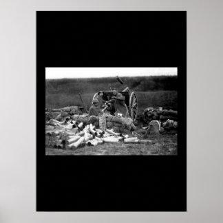Battery C, 6th Field Artillery, fired_war image Poster