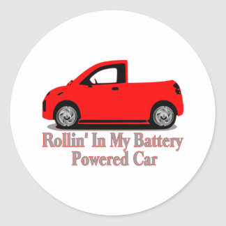 Battery Car Stickers