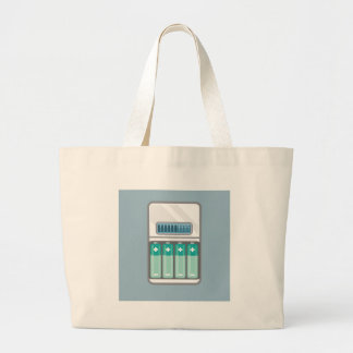 Battery Charger Large Tote Bag