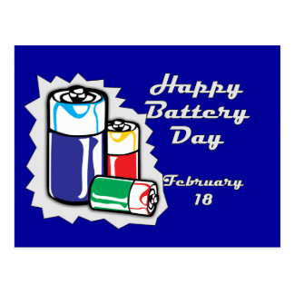 Battery Day February 18 Postcards