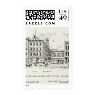 Battery East side California and Sacramento Postage Stamps