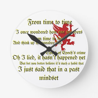 """""""Battery, Electric Personality"""" Wall Clock"""